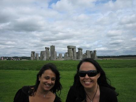 Celia Fenn en Stonehenge